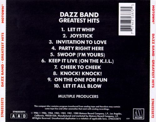 Greatest hits dazz band songs reviews credits allmusic discography browser previous invitation to love stopboris Gallery