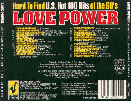 Love Power: Hard to Find Hits of the '60s