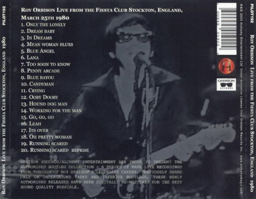 Orbison Over England: The Eighties March 25 1980 the Fiesta Club Stockton