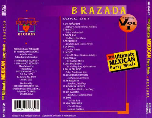 Ultimate Mexican Party Music, Vol.1: Brazada