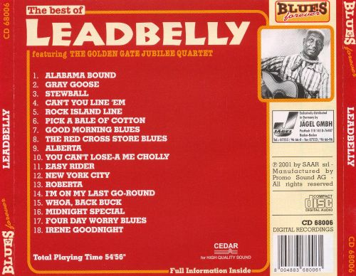 The Best of Leadbelly [2004]