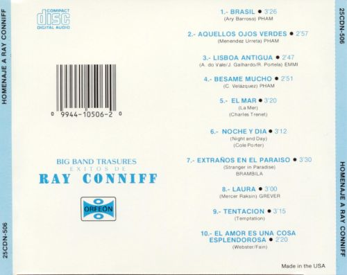 The Big Band Sound: Homenaje a Ray Conniff