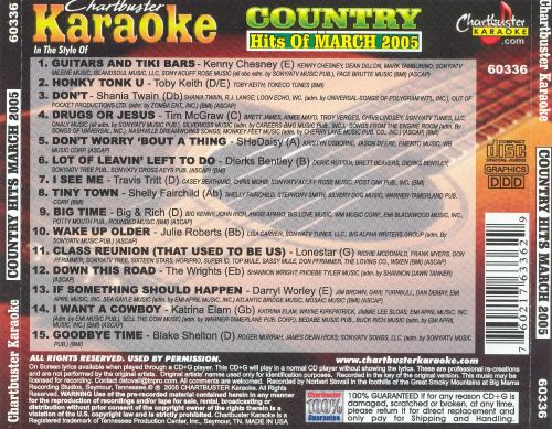 Chartbuster Karaoke: Country Hits March 2005