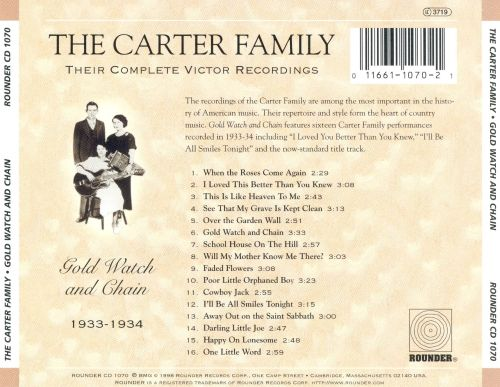 Gold Watch and Chain: Their Complete Victor Recordings (1933-34)