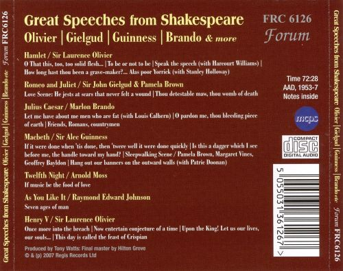 William Shakespeare: Great Speeches