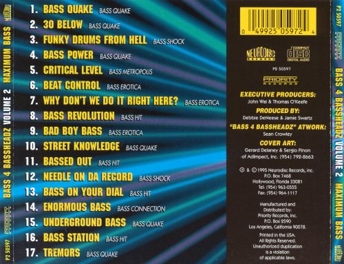 Bass 4 Bassheadz, Vol. 2: Maximum Bass