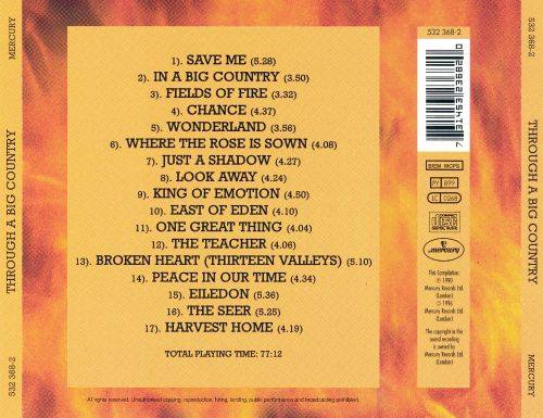 Through a Big Country: Greatest Hits