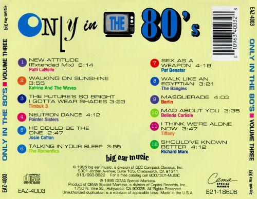 Only in the 80's, Vol. 3