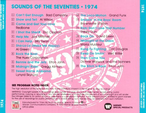 Sounds of the Seventies: 1974