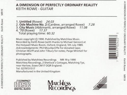 A Dimension of Perfectly Ordinary Reality