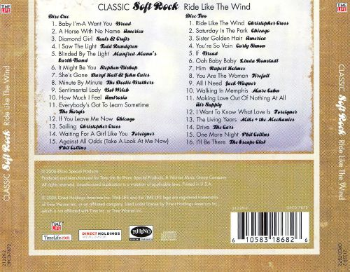 Classic Soft Rock Ride Like The Wind Various Artists