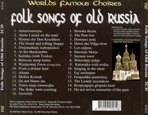 Folk Songs of Old Russia [PMF]