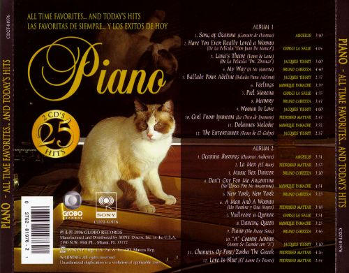 Piano: All Time Favorites and Today's Hits