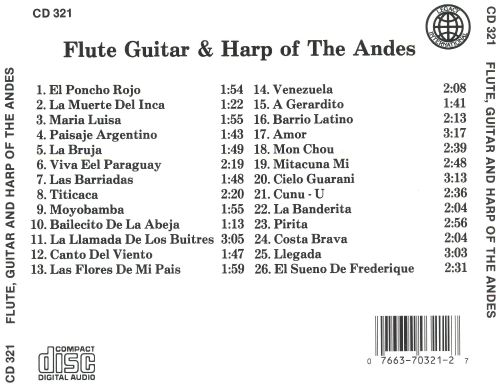 Flute, Guitar & Harp of the Andes