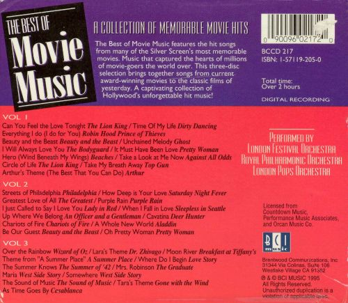 Best of Movie Music, Vol. 1-3