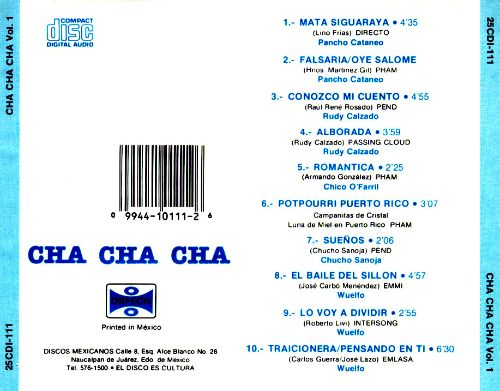 Big Band Sound: Cha Cha Cha, Vol. 1