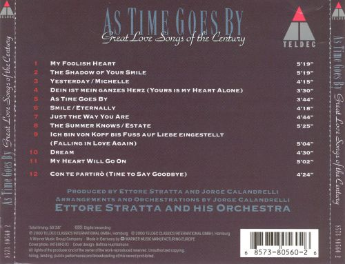 As Time Goes By: Great Love Songs Of The Century