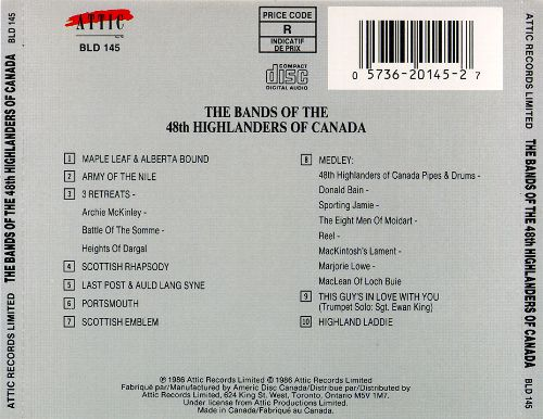 The Bands of the 48th Highlanders of Canada