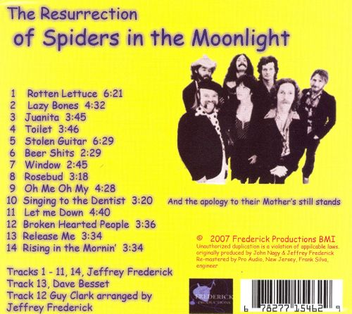 The Resurrection of Spiders in the Moonlight
