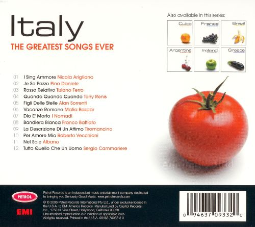 The Greatest Songs Ever: Italy