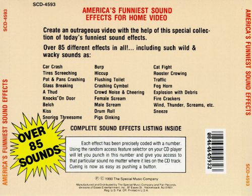 America S Funniest Sound Effects For Home Video Various Artists