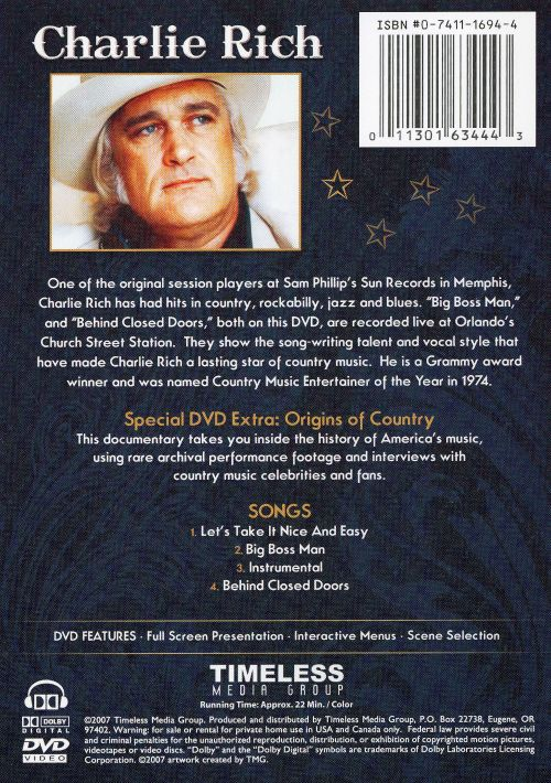 Country Legends Live Mini Concert Charlie Rich Songs Reviews