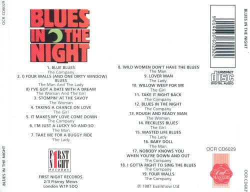 Blues in the Night: The American Blues & Jazz Hit [Original London Cast]