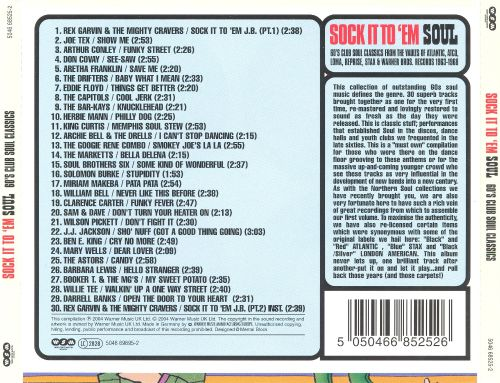 Sock It to 'Em Soul: 60s Club Soul Classics from the Vaults of Atlantic Atco Loma Reprise Stax & Warner Bros. 1963-1968