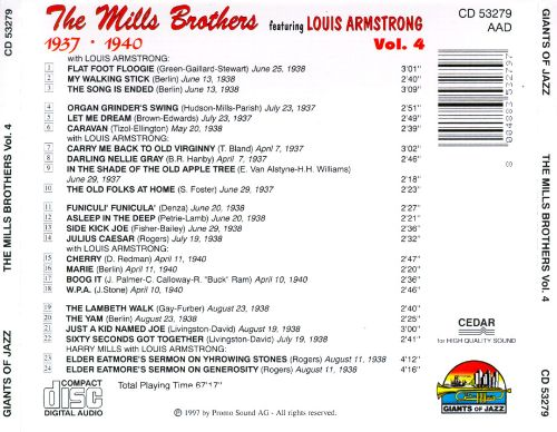 The Mills Brothers, Vol. 4: 1937-1940