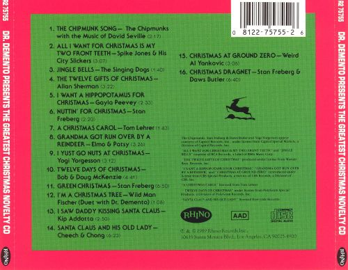 Dr. Demento Presents: Greatest Xmas Novelty CD - Dr. Demento   Songs, Reviews, Credits   AllMusic