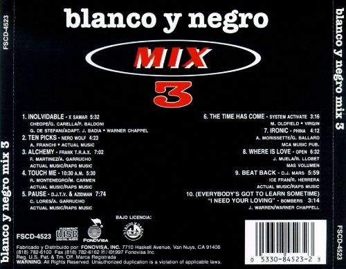 Blanco Y Negro Mix, Vol. 3