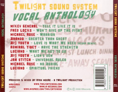Vocal Anthology, Vol. 1