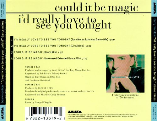 I'd Really Love to See You Tonight (Dance Mixes)