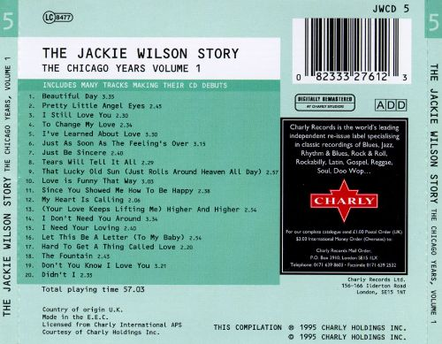 The Jackie Wilson Story: The Chicago Years, Vol. 1