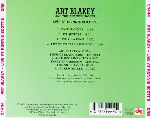 Live at Ronnie Scott's: Art Blakey and the Jazz Messengers [DRG]