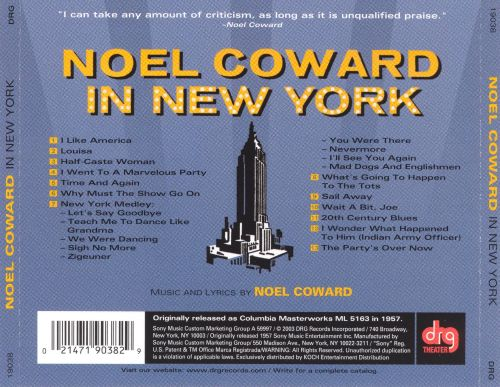 Noel Coward in New York