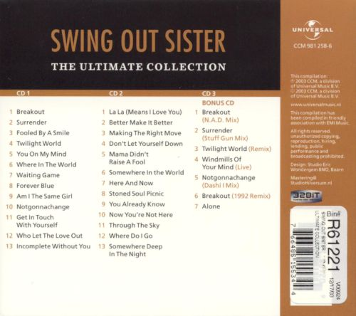 The Ultimate Collection Swing Out Sister Songs