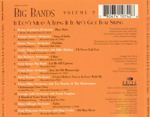 Big Bands, Vol. 2: It Don't Mean a Thing If It Ain't Got That Swing, Vol.2