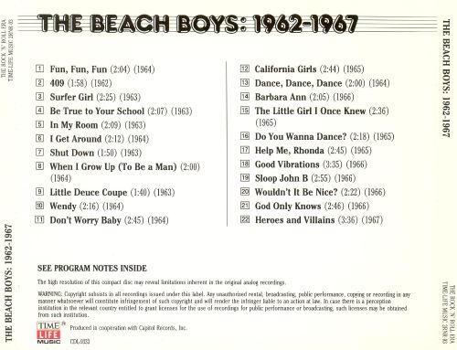 The Rock 'N' Roll Era: The Beach Boys - 1962-1967