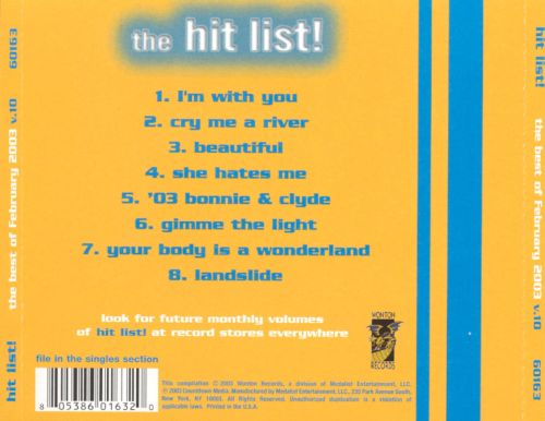 Hit List!, Vol. 10: The Best of February 2003