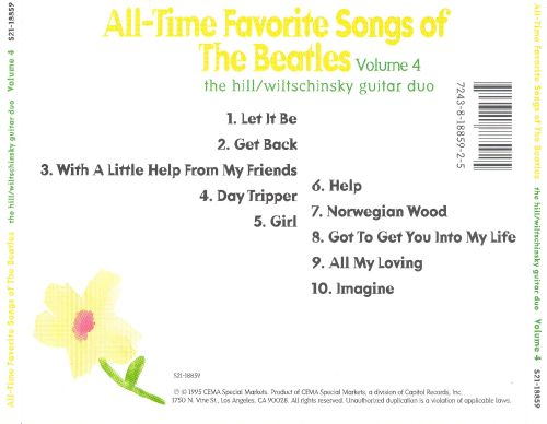 All-Time Favorite Songs of the Beatles, Vol. 4