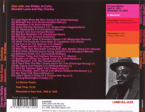 Complete Ralph Burns Sessions