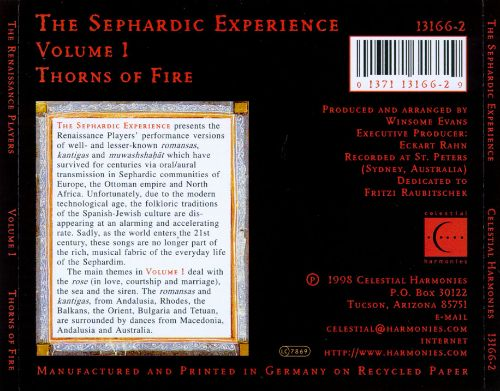 The Sephardic Experience, Vol. 1: Thorns of Fire