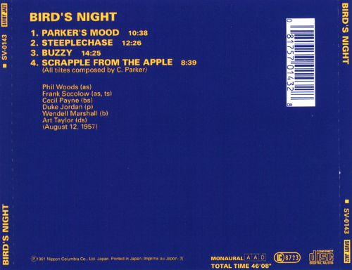 Bird's Night (The Music of Charlie Parker)