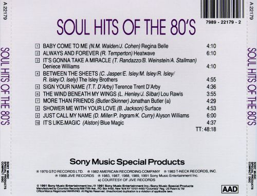 Soul Hits of the 80's [Sony 1995]