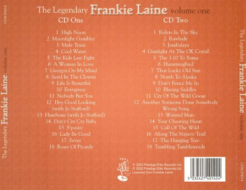 The Legendary Frankie Laine , Vol. 1