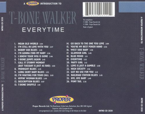 A Proper Introduction to T-Bone Walker: Everytime