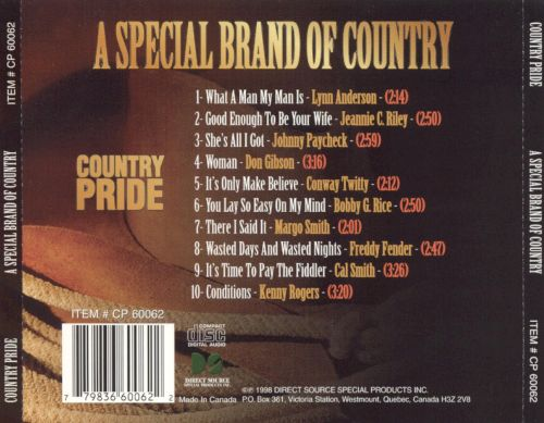 Country Pride: A Special Brand Of Country
