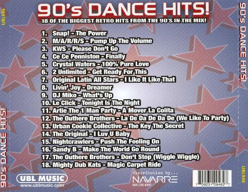 90 39 s dance hits retro dance party various artists