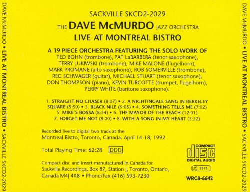 Live at Montreal Bistro